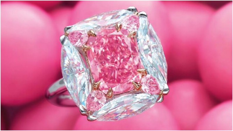 The 3-Carat 'Bubble Gum Pink' Diamond sold for $7.5 million on Christie's Magnificent Jewels sale in Hong Kong
