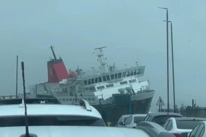 WATCH: Dramatic footage shows ferry caught in storm Dennis