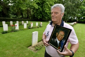 An English veteran stashed for 22 years in a Normandy cemetery