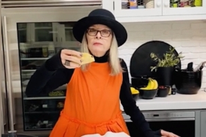 Diane Keaton's Taco-Making Demonstration Is Delightfully Daffy