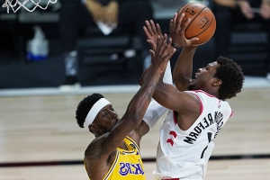 Kyle Lowry, Raptors took off the bubble wrap to compete vs. Lakers