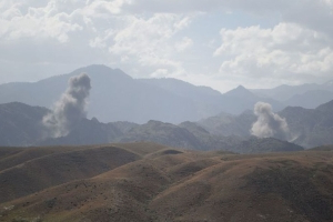 Dozens reported dead in airstrikes on Taliban base amid Afghan peace talks