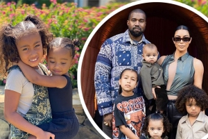Kim Kardashian shares snaps of her daughters North, 7, and Chicago, 2