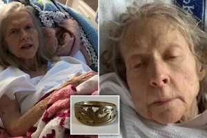 Mystery as frail elderly woman is rescued from the side of the road