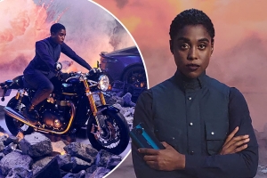 No Time To Die star Lashana Lynch promotes 007's new SMARTPHONE