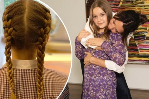 Victoria Beckham shows off her daughter Harper's French braids